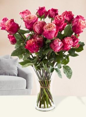 20 roze rozen uit Ecuador| Rozen online bestellen & versturen | Surprose.nl