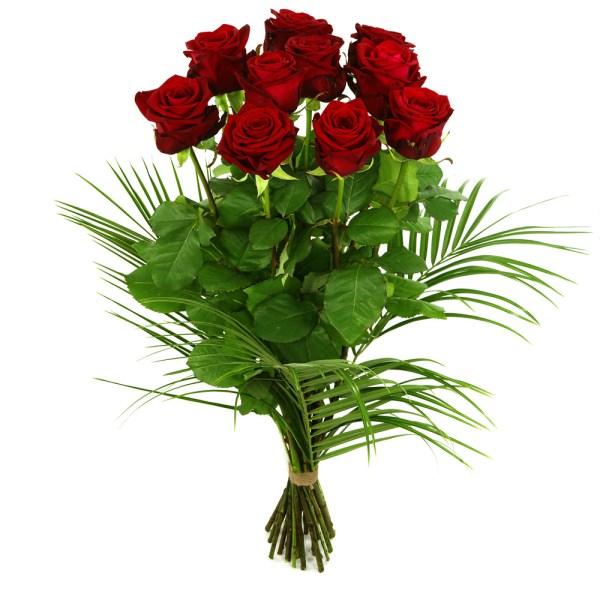 10 lange rode rozen bestellen of bezorgen