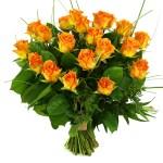 20 Oranje/zalm rozen bestellen of bezorgen