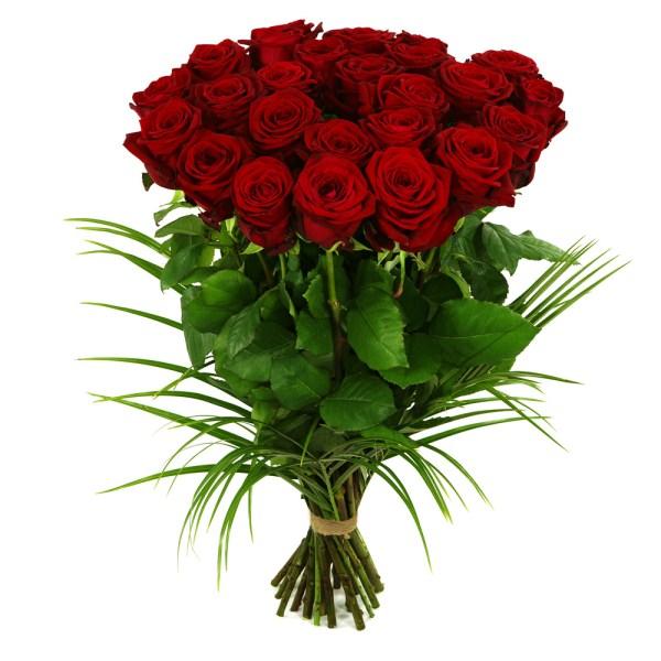 25 Lange rode rozen bestellen of bezorgen