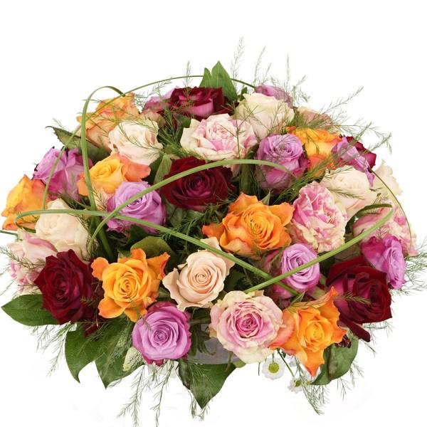 Biedermeier mixed rozen bezorgen bestellen of bezorgen