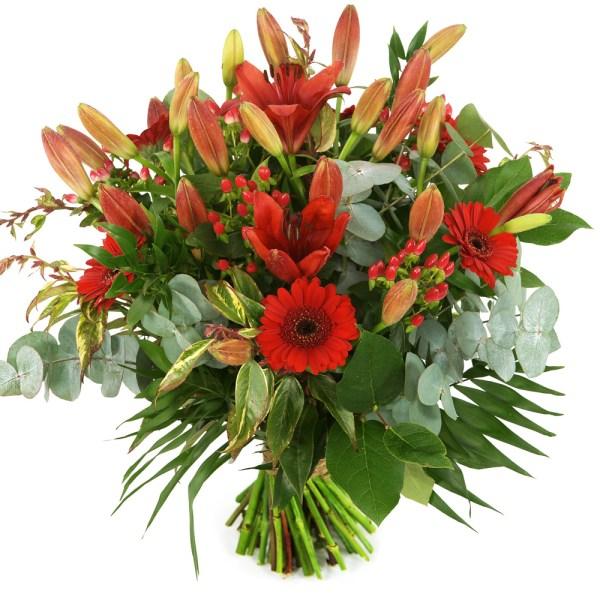 Bloemen bezorgen rood boeket bestellen of bezorgen