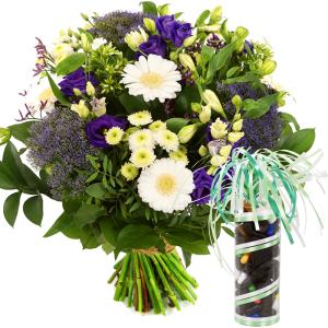 Boeket bloemen en drop bestellen of bezorgen