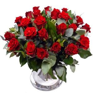 Boeket buitenland rode rozen bestellen of bezorgen online