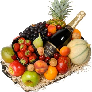 Champagne Fruitmand bestellen of bezorgen
