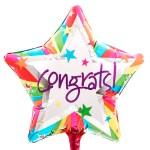 Congrats ballon bestellen of bezorgen