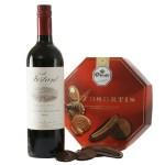 Franse rode wijn en Droste chcocolade bestellen of bezorgen