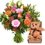 Geboorte bloemen en knuffel bezorgen bestellen of bezorgen
