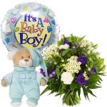 Geboorte bloemen jongen bezorgen bestellen of bezorgen