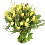 Gele tulpen boeket bestellen of bezorgen