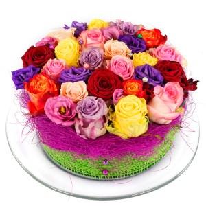 Gemengde rozen bloementaart bezorgen bestellen of bezorgen