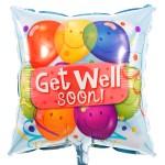 Get well soon vierkante ballon bezorgen bestellen of bezorgen