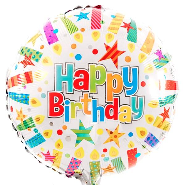 Happy Birthday ballon met kaarsjes bestellen bestellen of bezorgen