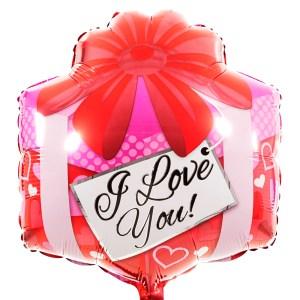 I Love You vierkant ballon bestellen bestellen of bezorgen