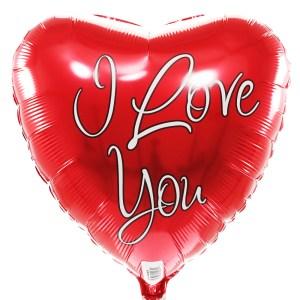 I love you ballon rood bestellen of bezorgen