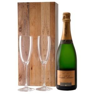Joseph Perrier Brut Vintage 2004 en champagne glazen bestellen of bezorgen