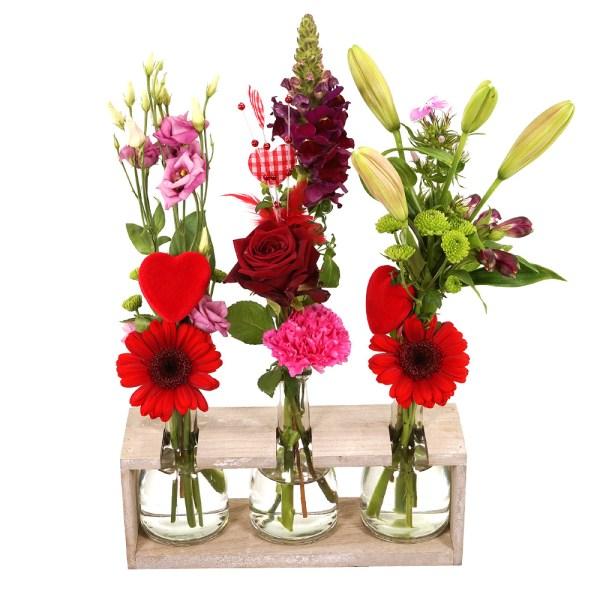 Moederdag surprise vaasjes bloemen bezorgen bestellen of bezorgen