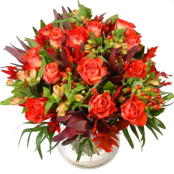 Oranje rozen bloemen boeket bestellen of bezorgen