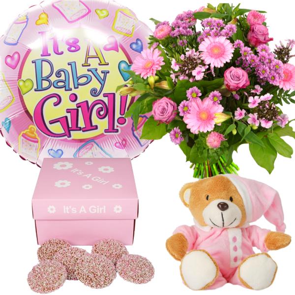 Origineel geboorte pakket meisje bezorgen bestellen of bezorgen