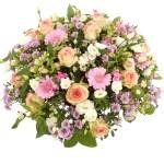 Pastel roze witte rouwbloemen bezorgen bestellen of bezorgen