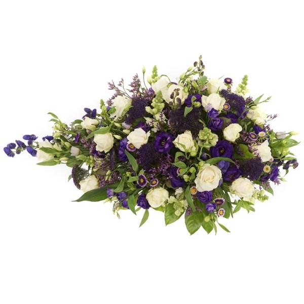 Rouwstuk wit paars laten bezorgen bestellen of bezorgen
