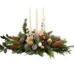 Tafel kerststuk met witte kaarsen bezorgen bestellen of bezorgen