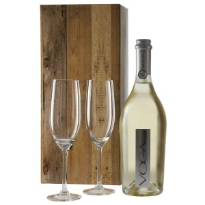 Voga sparkling prosecco en 2 champagne glazen bestellen of bezorgen
