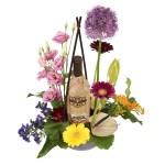 Wijn bloemstuk bezorgen bestellen of bezorgen