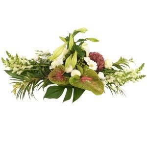 Wit begrafenis bloemstuk versturen bestellen of bezorgen