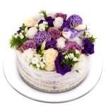 Wit paarse bloementaart kopen bestellen of bezorgen