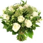Witte rozen en witte bloemen bestellen of bezorgen