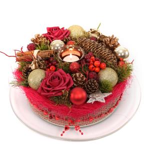 Zijde kerst bloementaart bezorgen bestellen of bezorgen