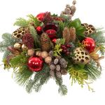 kerststuk-rood-goud-waxinelichtje-bestellen bestellen of bezorgen