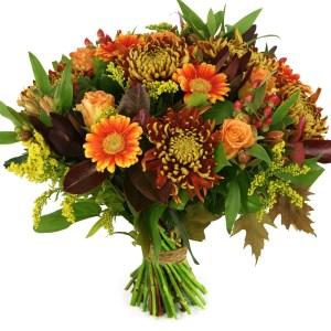 Herfstboeket brons oranje bestellen bestellen of bezorgen