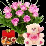 Knuffel pakket roze bestellen bestellen of bezorgen