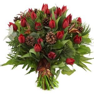 Rode kerst tulpen bezorgen bestellen of bezorgen
