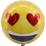 Smiley hartje ballon bestellen of bezorgen
