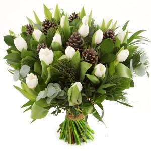 Witte kerst tulpen versturen bestellen of bezorgen