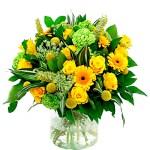 Bloemen buitenland geel - wit bestellen of bezorgen online