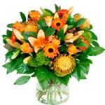 Boeket oranje bestellen of bezorgen online