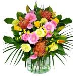 Boeket oranje roze geel bestellen of bezorgen online