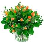 Boeket oranje tulpen bestellen of bezorgen online