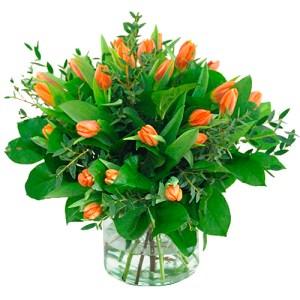 Boeket oranje tulpen bestellen of bezorgen