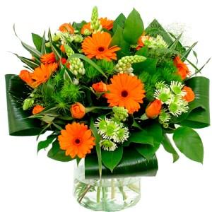 Boeket oranje wit bestellen of bezorgen online