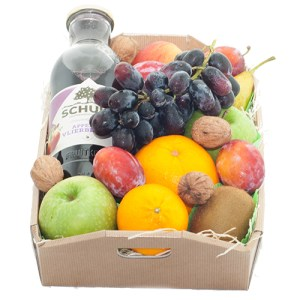 Fruitkistje met fles sap bestellen of bezorgen online