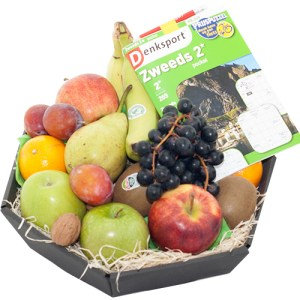 Fruitmand met puzzelboek bestellen of bezorgen online