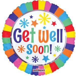 Get Well Soon kleurrijke strepen bestellen of bezorgen online