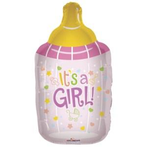It's a Girl drinkfles ballon bestellen of bezorgen online