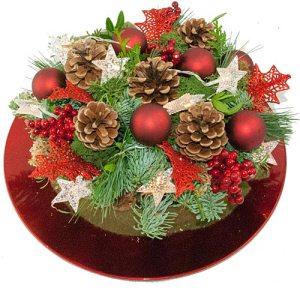 Kersttaart rood bestellen of bezorgen online