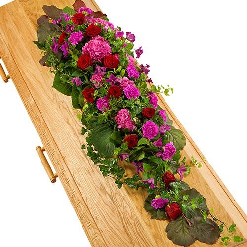 Kistversiering lila-paars en rood bestellen of bezorgen online